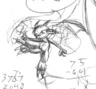 Dragonnette author_like claws featureless_crotch ink_sketch wings // 589x548 // 131.6KB