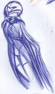 author_indifferent cape doodle female helmet ink ink_sketch sketch stocking thigh_highs what // 573x972 // 127.1KB
