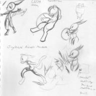High_Pressure High_Volume Metal_Bubble_Dragon action author_indifferent balloon_popping balloons bits bodysuit bubble butt cat draconic dragon feline felyne female horns ink ink_sketch long_ears motion pencil pencil_sketch pony robot rump shorts sketch tail text toy vacuum_tube // 2262x2273 // 967.1KB