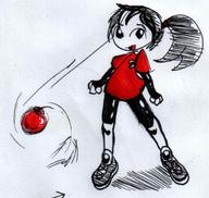 BALLTHINGY Dyna Red_Shirt author_like bomb human ink_sketch open_mouth shoes shorts // 1031x979 // 68.4KB
