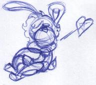 Luna author_indifferent balloons bunny doodle female hug ink ink_sketch long_ears sketch ♥ // 520x462 // 54.1KB