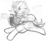 Blackjack Fallout_Equestria_Project_Horizons P-21 action author_indifferent colt cutie_mark earth_pony fanart female filly guns male pencil pencil_sketch pony sketch unicorn // 850x762 // 145.2KB