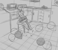 FireAlpaca Sparky author_fancy author_like background balloon_popping balloons bits chair digital digital_sketch doodle feline female interior kitchen popping rough scenery shorts sketch // 1600x1388 // 341.5KB