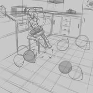 FireAlpaca Sparky alternate_version author_fancy author_like background balloon_popping balloons bits chair digital digital_sketch doodle feline female interior kitchen popping rough scenery shorts sketch // 5000x5000 // 2.4MB