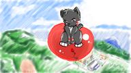 Rowin author_like background balloons cat digital_sketch fantasy flying game high // 800x450 // 463.9KB